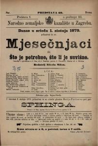 Mjesečnjaci ili Što je potrebno, što li je suvišno lakrdija s pjevanjem u 2 čina / od J. Nestroja