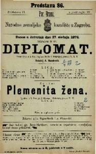 Diplomat vesela igra u 2 čina / napisao Scribe i Delavigny