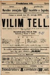 Vilim Tell Heroično romantična opera u 4 čina / Glasba od G. Rossini-a