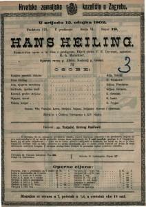 Hans Heiling : romantična opera u tri čina s predigrom / uglazbio H. A. Marschner