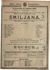 Smiljana opera u dva čina / glazba od F. S. Vilhara