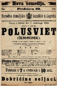 Polusviet : Komedija u 5 čina / napisao A. Dumas sin