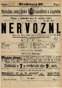 Nervozni Šaljiva igra u 3 / napisao Victorien Sardou