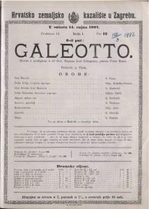 Galeotto drama s predigrom u tri čina