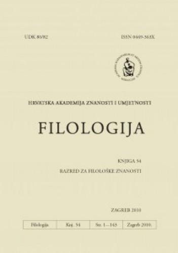 Knj. 54(2010) : Filologija : časopis Razreda za filološke znanosti Hrvatske akademije znanosti i umjetnosti