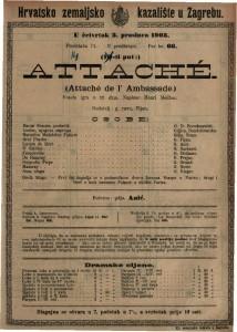Attaché vesela igra u tri čina / napisao Henri Meilhac