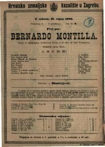 Bernardo Montilla gluma iz španjolskog društvenog života u tri čina / od José Echegaraya