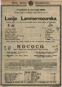Lucija Lammermoorska Tragična opera u tri čina / glazba od Donizzettia