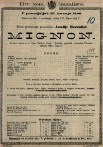Mignon : Lirična opera u tri čina / uglazbio Ambroise Thomas