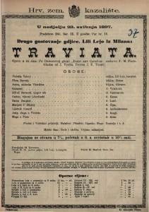 Traviata Opera u 3 čina / Glazba od J. Verdia