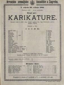 Karikature scenski studij u četiri čina / poljski napisao Jan Aug Kisielewski