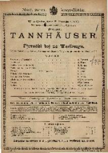 Tannhäuser i Pjevački boj na Wartburg Velika romantična opera u tri čina / od Rikarda Wagnera