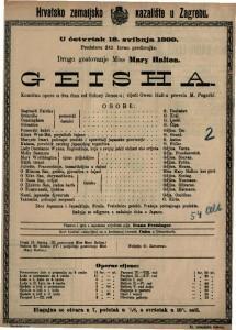 Geisha komična opera u tri čina / od Sidney Jones-a