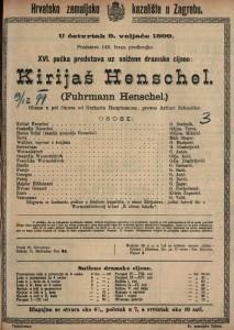 Kirijaš Henschel gluma u pet činova / od Gerharta Hauptmanna
