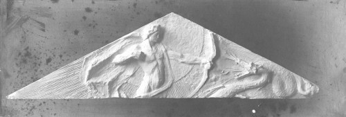Valdec, Rudolf  : Apolon Pythoctonos - skica reljefa za timpanon Umjetničkog paviljona