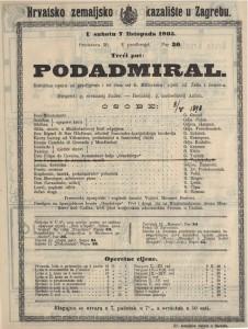 Podadmiral komična opera sa predigrom i tri čina / od K. Millockera