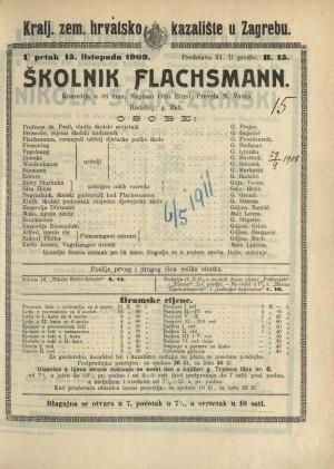 Školnik Flachsmann Komedija u tri čina