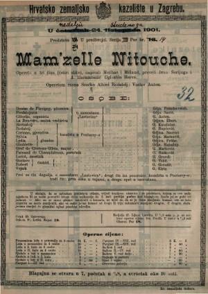 Mam'zelle Nitouche : opereta u tri čina (četiri slike) / uglazbio Hervé