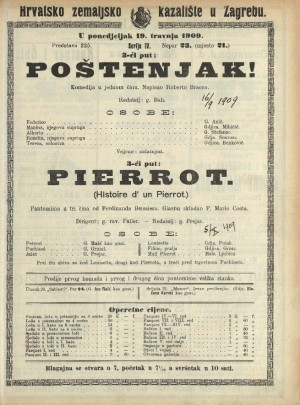 Poštenjak! ; Pierrot Komedija u 1 činu ; Pantomima u 3 čina