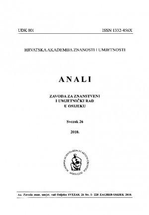Sv. 26 (2010) : Anali Zavoda za znanstveni i umjetnički rad u Osijeku