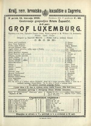 Grof Luxemburg Opereta u tri čina