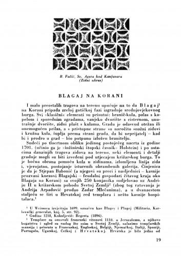 Blagaj na Korani : Bulletin Zavoda za likovne umjetnosti Jugoslavenske akademije znanosti i umjetnosti