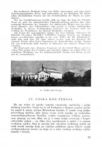 Sv. Foška kod Peroja : Bulletin Zavoda za likovne umjetnosti Jugoslavenske akademije znanosti i umjetnosti
