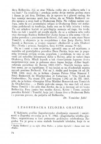 Zagrebačka izložba grafike : Bulletin Odjela VII. za likovne umjetnosti Jugoslavenske akademije znanosti i umjetnosti