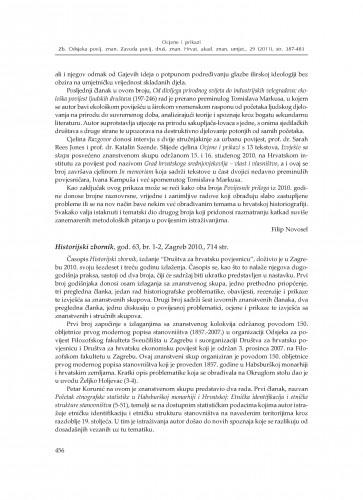 Historijski zbornik, god. 63, br. 1-2, Zagreb 2010. : [prikaz] : Zbornik Odsjeka za povijesne znanosti Zavoda za povijesne i društvene znanosti Hrvatske akademije znanosti i umjetnosti