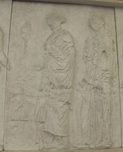 Dvije ženske figure, Partenon-istočni friz Fidijina škola