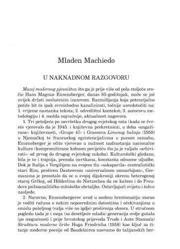 U naknadnom razgovoru : Forum : mjesečnik Razreda za književnost Hrvatske akademije znanosti i umjetnosti.