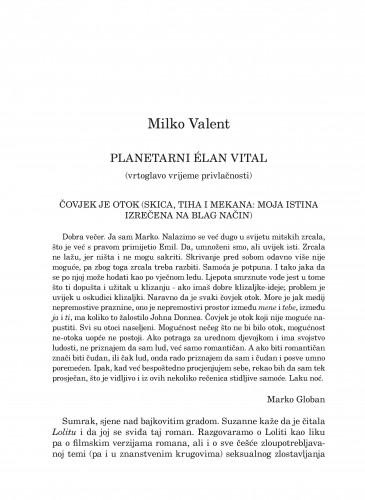 Planetarni Élan Vital : (vrtoglavo vrijeme privlačnosti) : Forum : mjesečnik Razreda za književnost Hrvatske akademije znanosti i umjetnosti.
