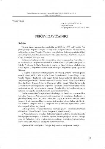 Peićevi zavičajnici : Radovi Zavoda za znanstveni i umjetnički rad u Požegi