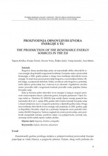 Proizvodnja obnovljivih izvora energije u EU
