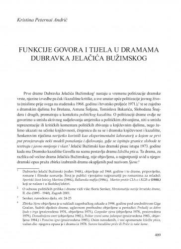 Funkcije tijela i govora u dramama Dubravka Jelačića Bužimskog : Krležini dani u Osijeku