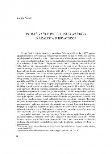 Istraživači povijesti isusovačkog kazališta u Hrvatskoj : Krležini dani u Osijeku