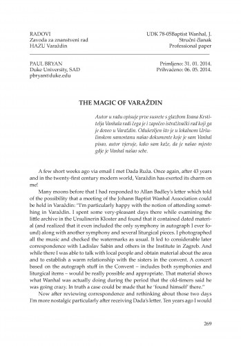 The magic of Varaždin : Radovi Zavoda za znanstveni rad Varaždin