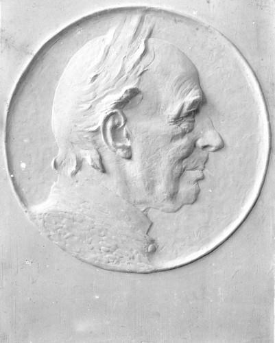 Sadrena skica portretne plakete biskupa J. J. Strossmayera