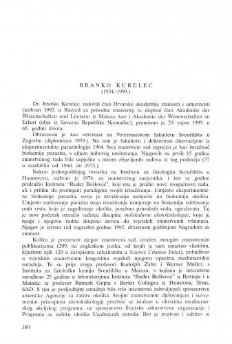 Branko Kurelec (1934.-1999.) / Velimir Pravdić