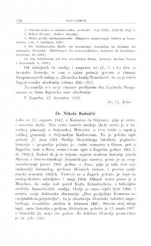 Dr. Nikola Radojčić / G. Manojlović