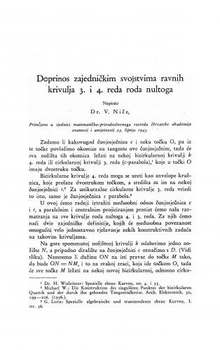Doprinos zajedničkim svojstvima ravnih krivulja 3. i 4. reda roda nultoga