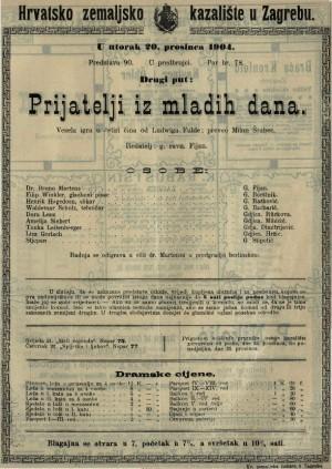Prijatelji iz mladih dana vesela igra u četiri čina / od Ludwiga Fulde