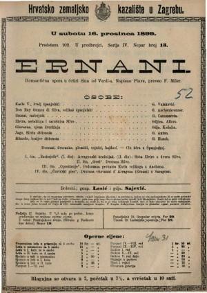 Ernani romantična opera u četiri čina / od Verdi-a
