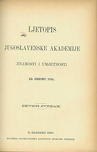 Za godinu 1894. Sv. 9 : Ljetopis