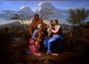 Sveta obitelj sa svetima Ivanom i Elizabetom