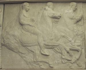 Tri konjanika, Partenon - južni friz