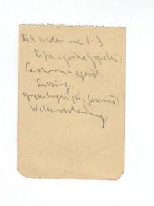 Matoševa ceduljica, pisana na bolničkoj postelji