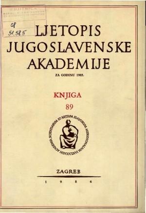Za godinu 1985. Knj.  89 : Ljetopis
