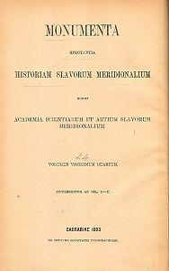Index rerum, personarum et locorum in voluminibus I - V. Monumentorum spectantium historiam Slavorum meridionalium : Monumenta spectantia historiam Slavorum meridionalium