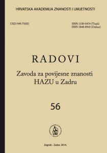 Sv. 56(2014) : Radovi Zavoda za povijesne znanosti HAZU u Zadru
